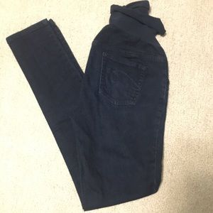 Dark blue maternity skinnies
